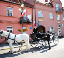 Horse carriage cab Warsaw